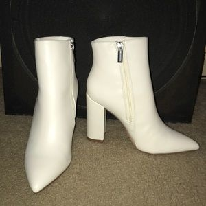 Booties, Rosamund, White
